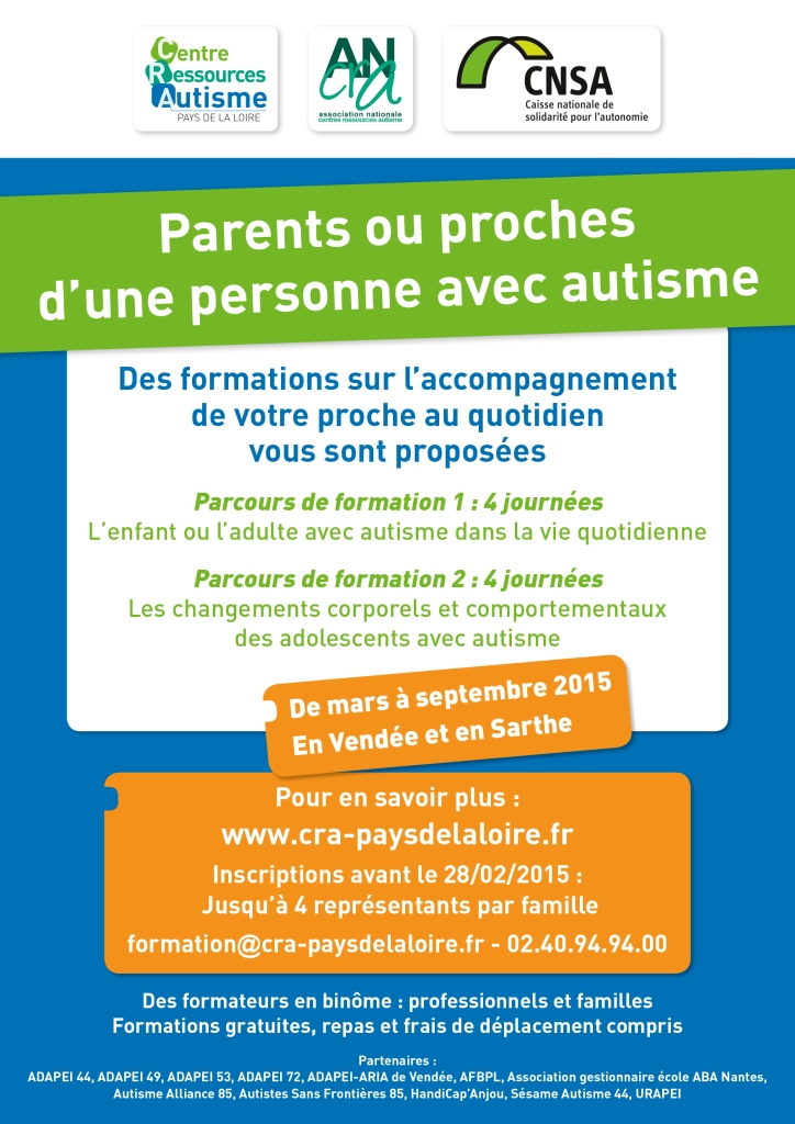 Affiche formation aide aidants 2015